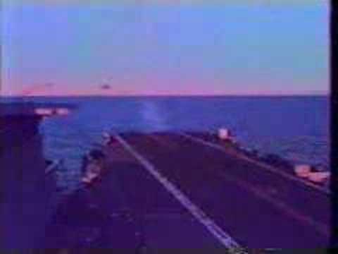 Super Etendard en portaaviones 25 de mayo