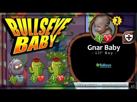 BULLSEYE GRASS KNUCKLES DECK - AND A BABY!   Plants vs. Zombies: Heroes Gameplay