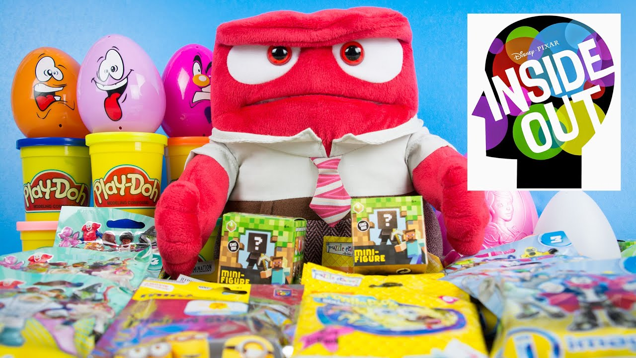 eeaf9a922a Pixar s Inside Out Anger Surprises Minions Minecraft Imaginext Spongebob  Disney Toys. Kinder Playtime