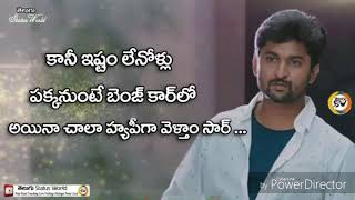 Nani Nanstop Emotional Dialogues in Nenu Local