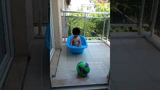 funny and cute baby playing in water😁😄