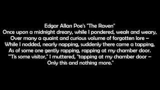 The Raven by Edgar Allan Poe text with audio free audio book