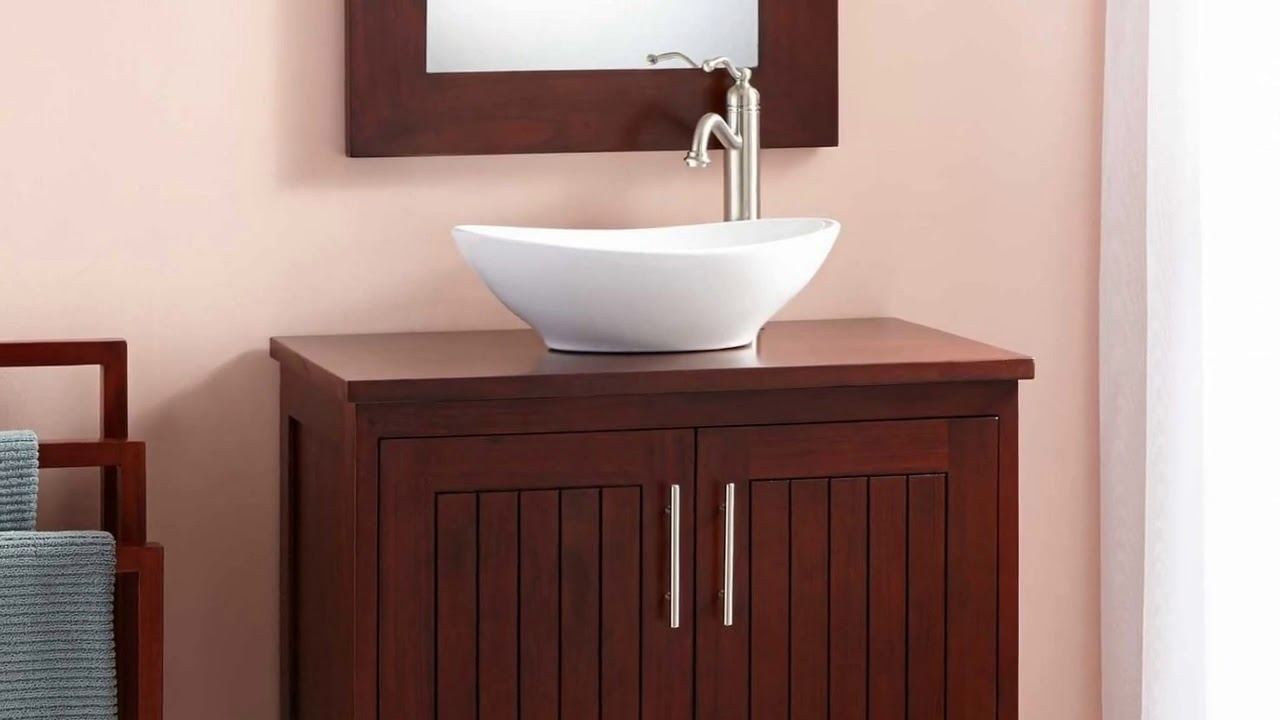 18 Inch Deep Bathroom Vanity Cabinet Designs - YouTube