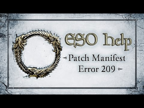 Patch Manifest Error 209 - The Elder Scrolls Online: Tamriel Unlimited