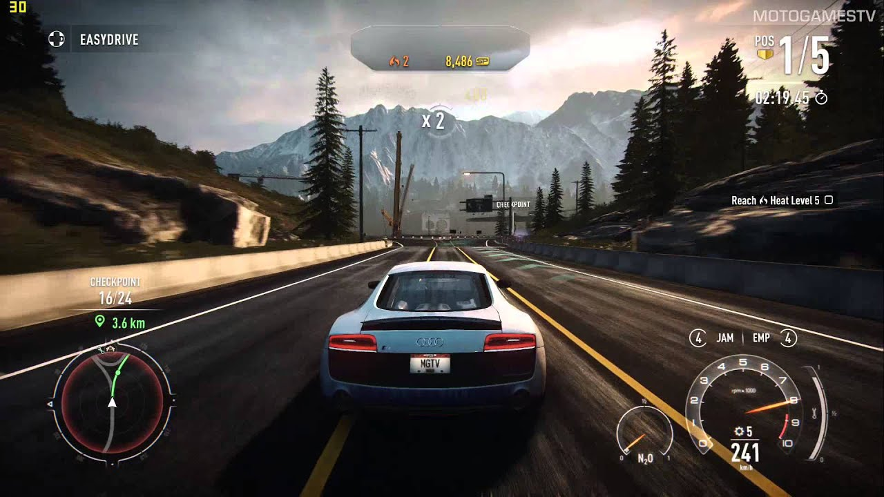 Need For Speed Rivals Pc Audi R8 Coup 233 V10 Gameplay