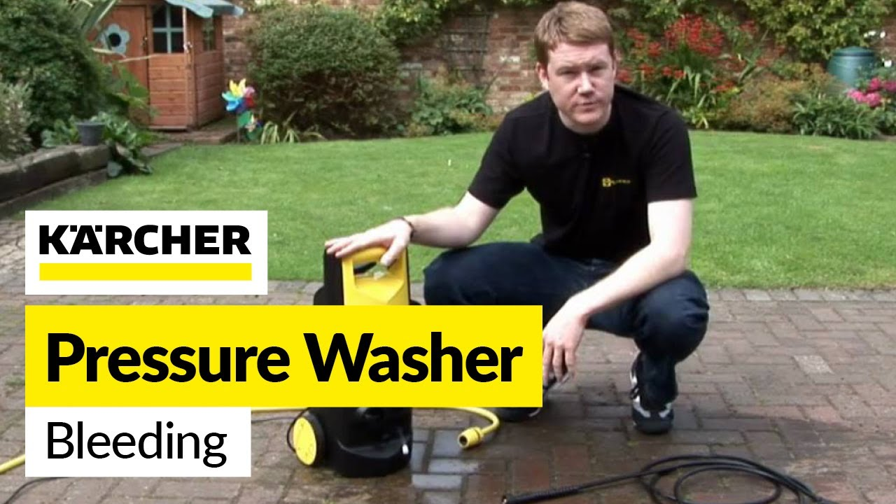 Pressure washer fix: How to bleed a Karcher Pressure Washer