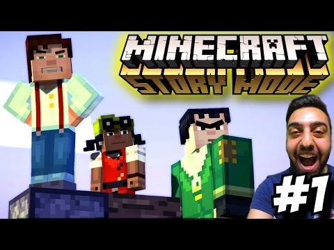 Minecraft Story Mode Türkçe   Bu Hikaye cok zevkli   1.Bölüm   Ps4