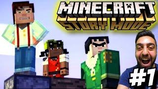 Minecraft Story Mode Türkçe | Bu Hikaye cok zevkli | 1.Bölüm | Ps4