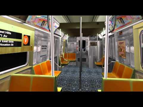 OpenBVE HD: NYCT R68 (V) {Lower East Side – 2 Av, to Forest Hills – 71 Av}