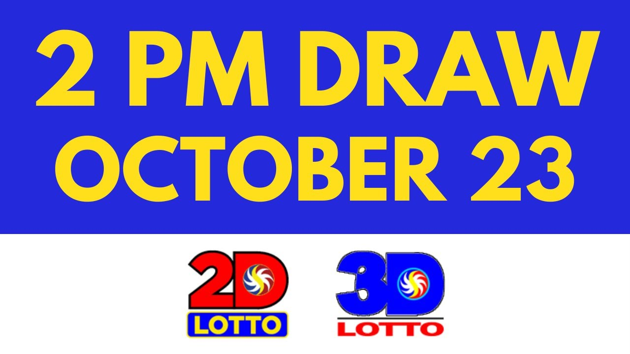 2pm Lotto Result Today Oct 23 2021 [Swertres Ez2]