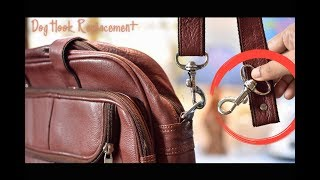 How To Change or Replace the Dog Hook of a Bag Strap | DIY