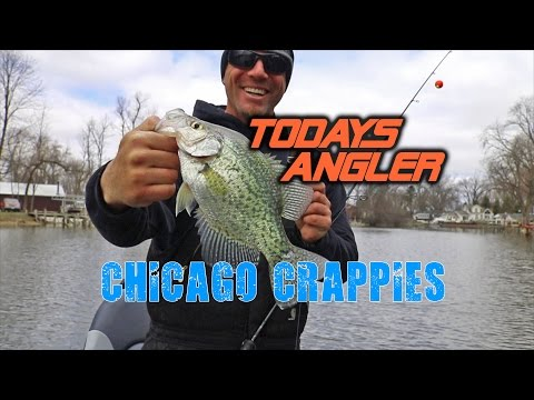 Spring Crappies - Chicago Crappie Fishing- Todays Angler