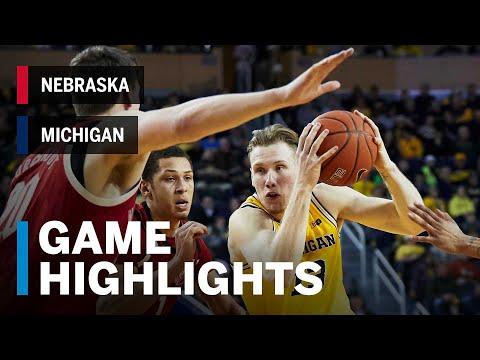 Highlights: Jon Teske Scores Career-High 22 Points | Nebraska vs. Michigan | Feb. 28, 2019