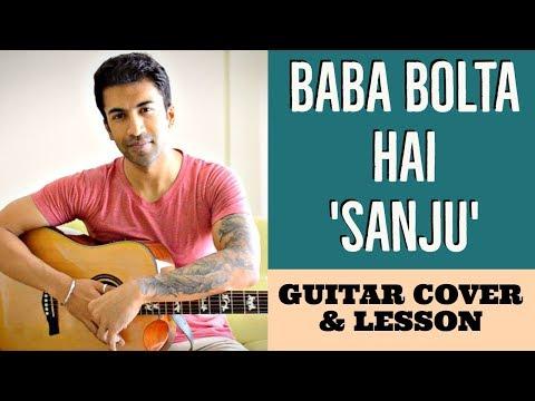 Baba Bolta Hain Bas Ho Gaya | Sanju | Papon | Guitar Cover + Lesson
