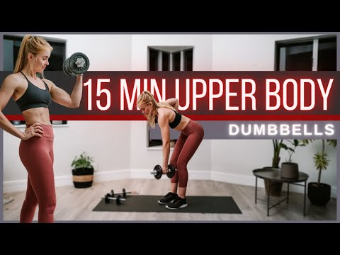 15 min Effective Dumbbell Upper Body Workout | No Repeats