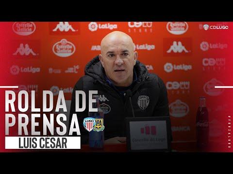 Rueda de prensa de Luis César tras el Lugo - Alcorcón