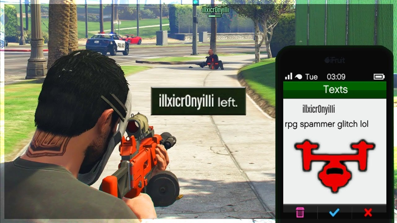 LOL This Player Claims I'm Glitching After Getting Humiliated on GTA 5 Online