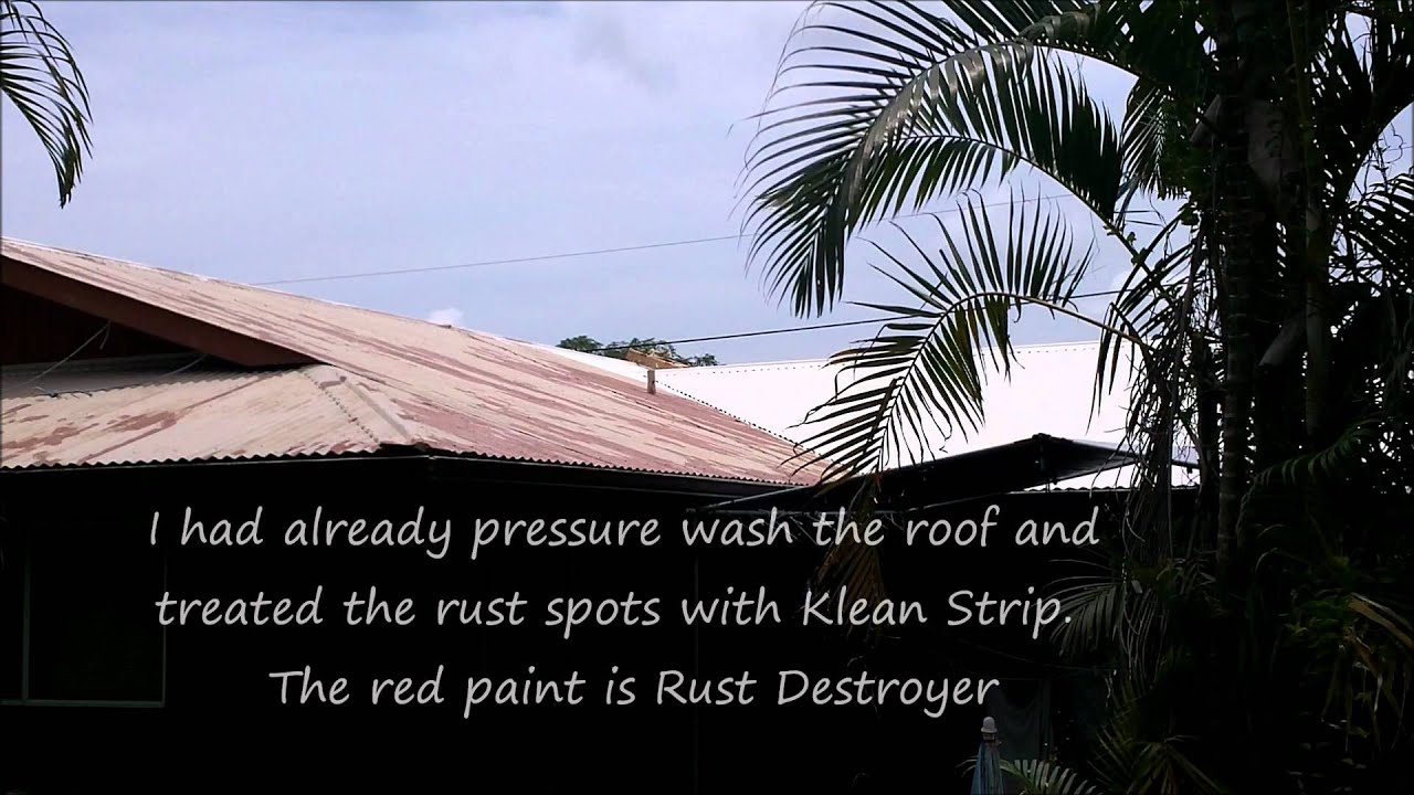 painting a corrugated metal roof youtube