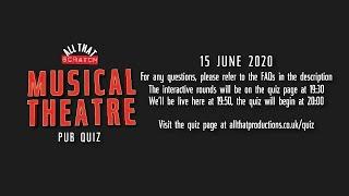 Musical Theatre Pub Quiz #3