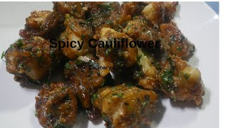 Chinese Style Spicy Cauliflower
