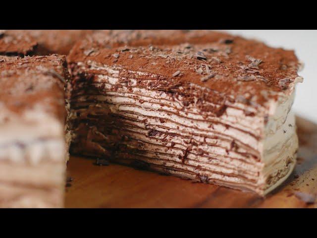 초콜릿 크레이프 케이크 만들기 Chocolate Crepe Cake Recipe | 한세 HANSE