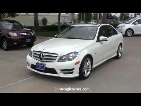 White 2012 Mercedes Benz C250