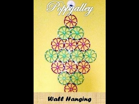 How to make wall Hanging using silk thread - YouTube