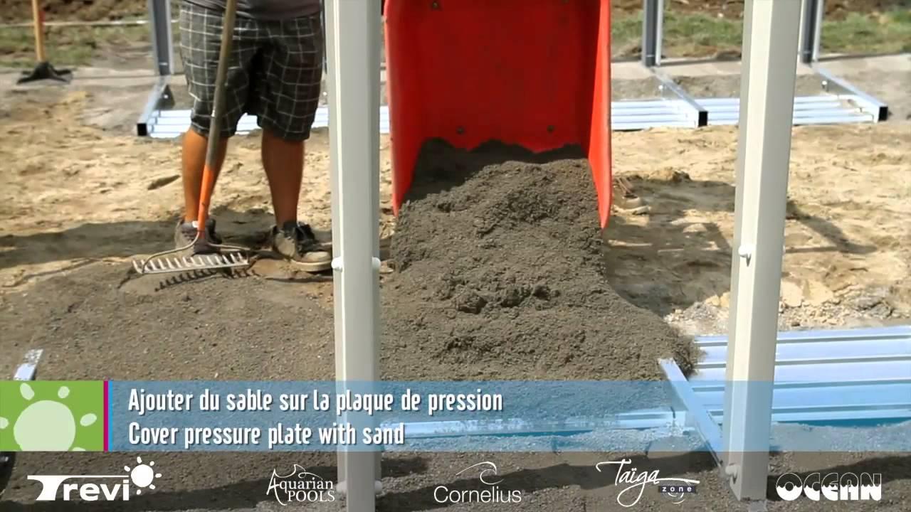 Installation piscine ovale sans jambe de force youtube for Piscine hors sol sans jambe de force