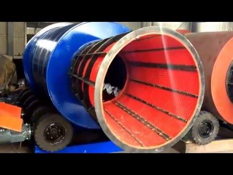 200 ton  per hour  chrome wash rotary trommel scrubber