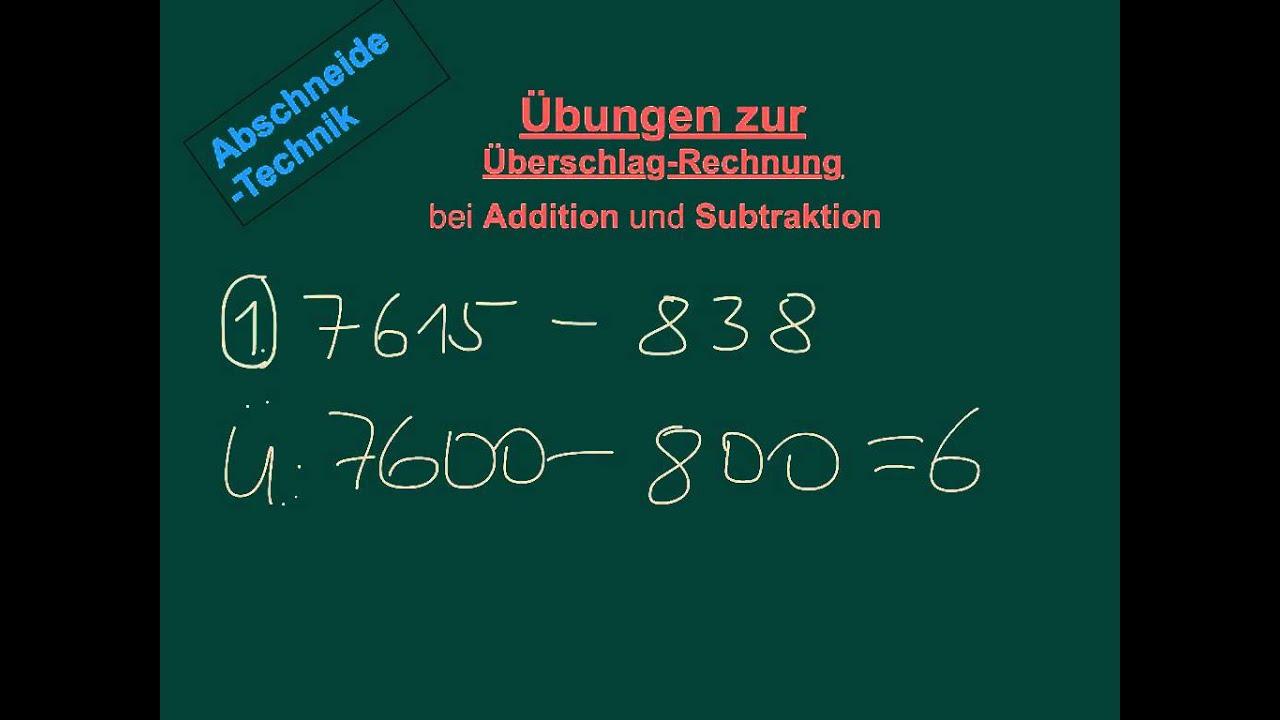 Fine Additionen Und Subtraktionen Säulenverfahren Arbeitsblatt ...