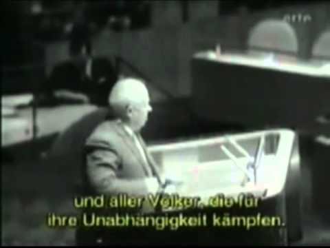Выступление Хрущева в ООН. Хрущев, как оратор.