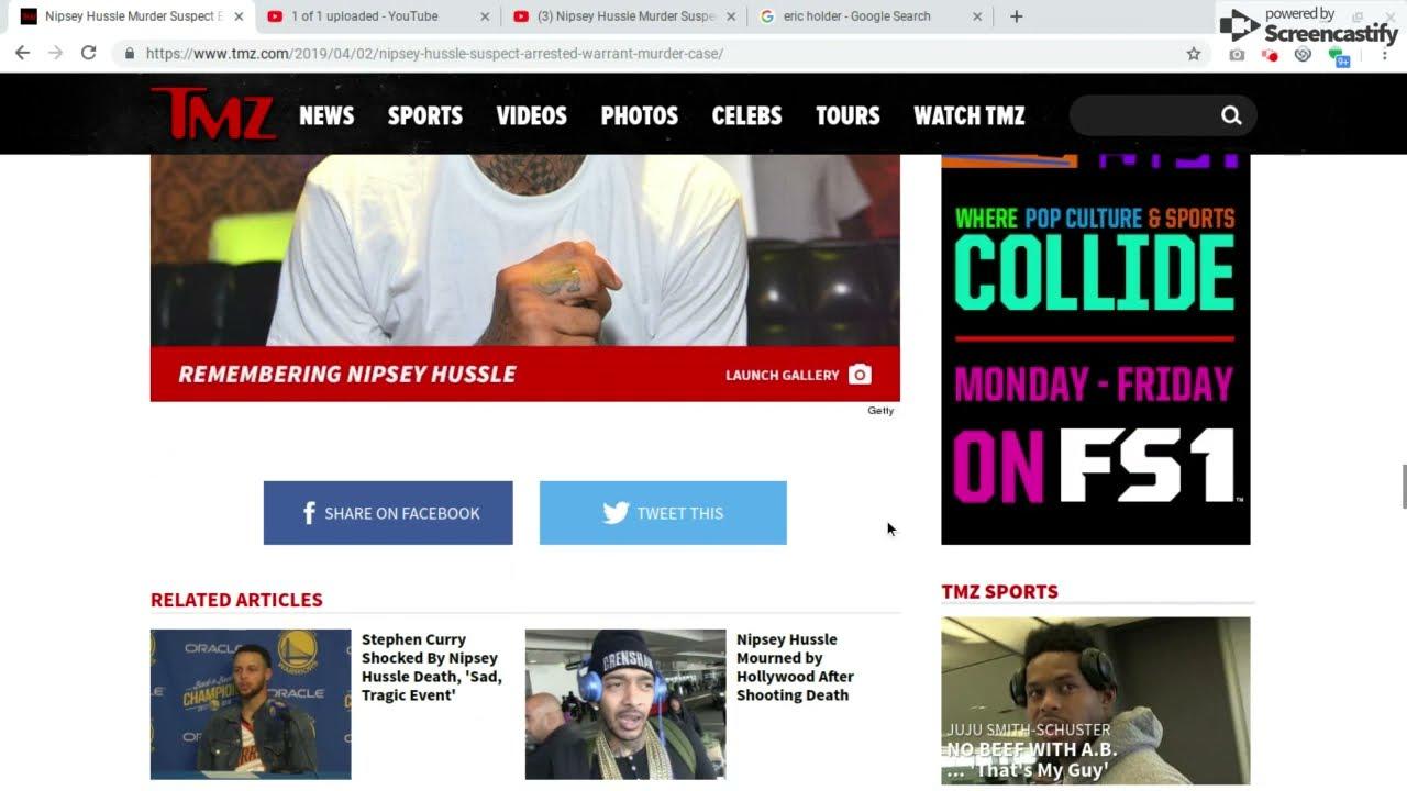 Nipsey Hussle Murder suspect Eric Holder aka Shitty Cuz CAPTURED!!!