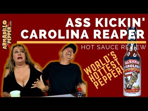 Ass Kickin' Carolina Reaper Hot Sauce Review - Hurricane Irma | Donna Tries World Hottest Pepper
