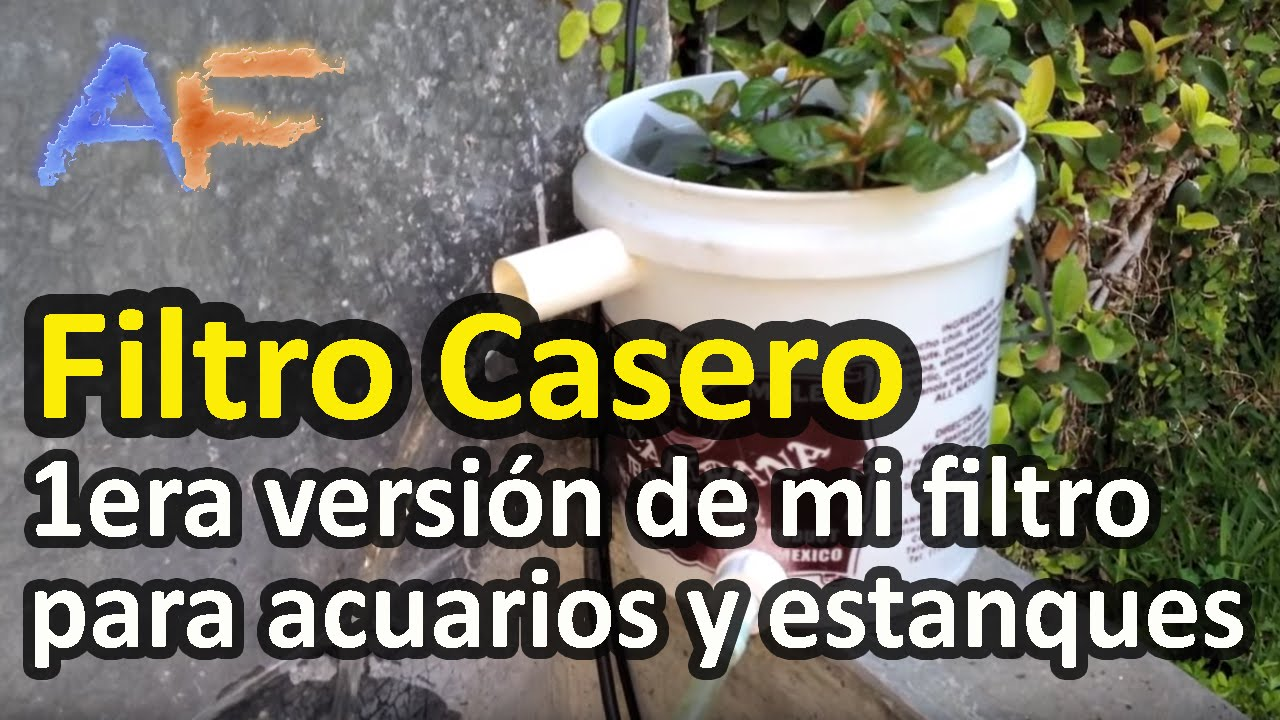 Filtro casero para acuarios y estanques 1era versi n for Videos de estanques