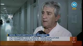 Hombre internado en el Instituto del Quemado por explosión en su casa