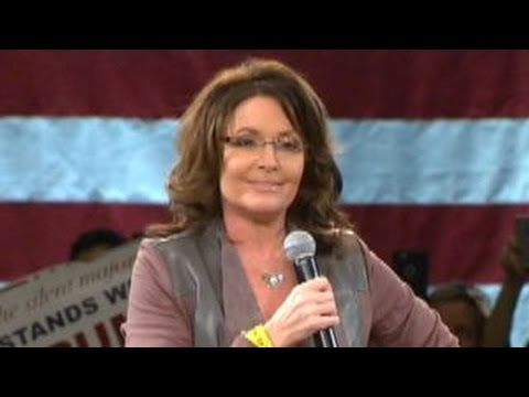 Palin thanks crowd for prayers after husband's 'big wreck'