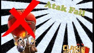 O Pior Ataque do Mundo(guerra de clans) - Clash of Clans