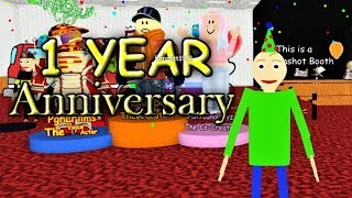 HAPPY 1 YEAR ANNIVERSARY BALDI'S BASICS IN RP AND MORPHS!! | Roblox Studio RELEASE