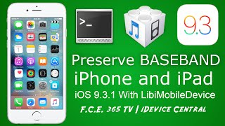 iOS 9.3.1 - Restore iPhone Without Baseband Update using LibiMobileDevice