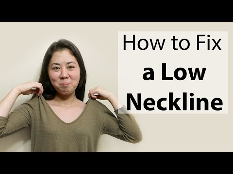 how-to-fix-a-low-neckline-(v-neck)-|-beginner-sewing-tutorial-|-diy-tailoring