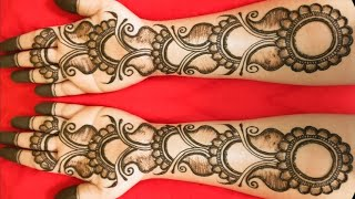 VERY EASY MEHENDI DESIGNS | LATEST FLORAL BEAUTIFUL SHADED ARABIC HENNA MEHNDI DESIGN FOR FRONT HAND