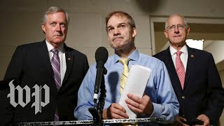 Republicans speak to reporters after House releases impeachment report