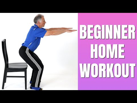 Full Body Home Workout For Beginner or Out-of-Shape No Equipment Easy to Do
