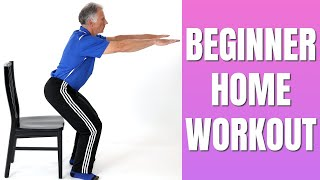Full Body Home Workout For Beginner or Out-of-Shape - No Equipment - Easy to Do