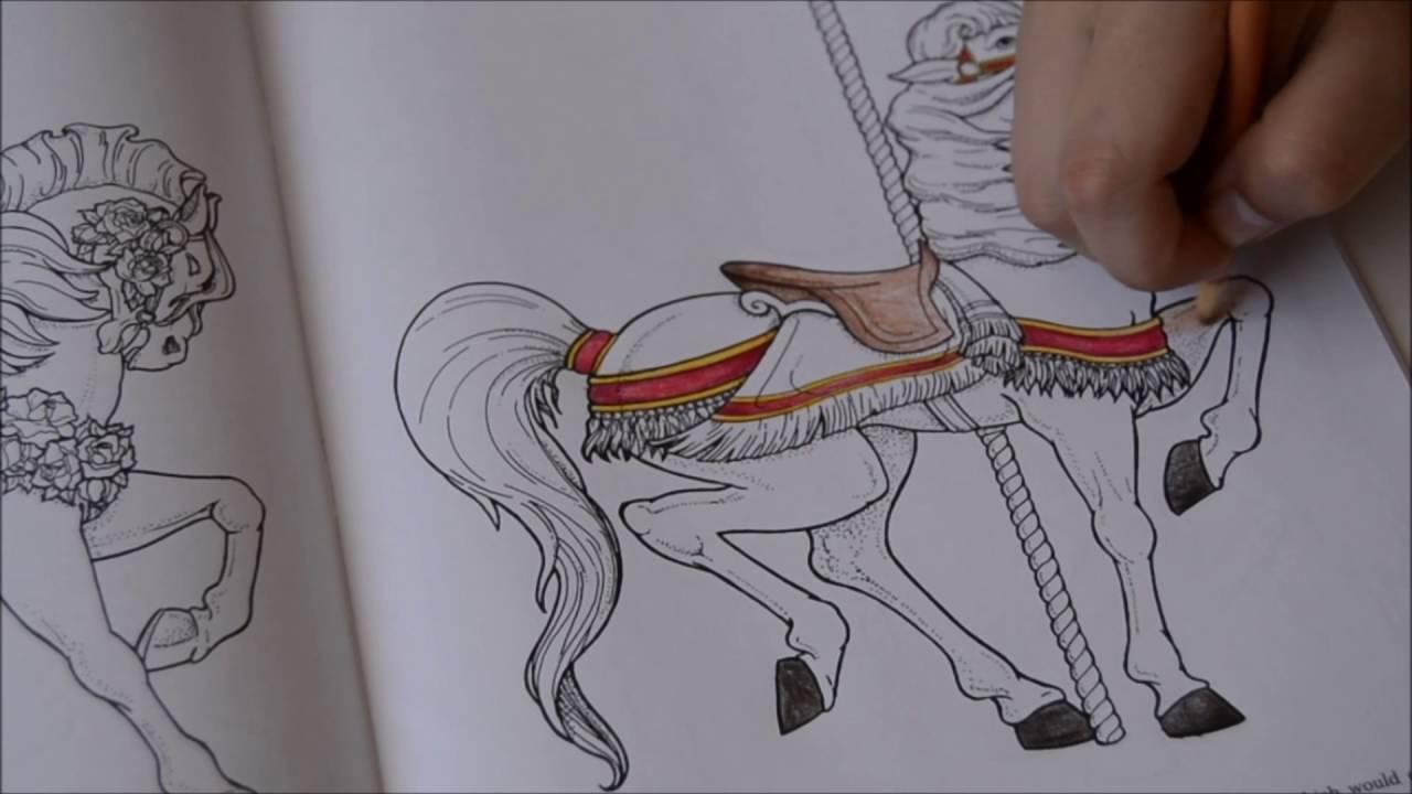 Carousel Animals Colouring Book