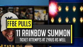 11 Rainbow Pull! FINALLY GOT HIM! & Pulls for Operative Zyrus - [FFBE] Final Fantasy Brave Exvius