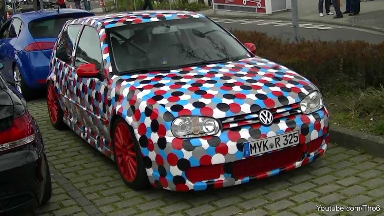 Epic Volkswagen Golf R32 With Unique Wrap Youtube