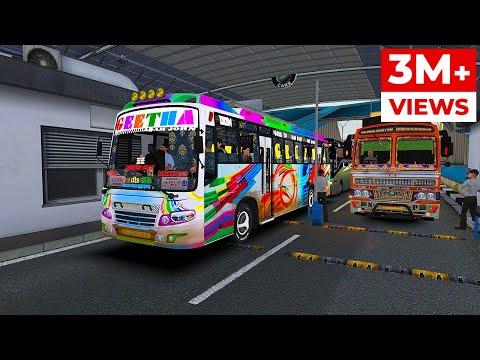 Ashok Leyland Bus Journey Thrissur To Kasargod | ETS2