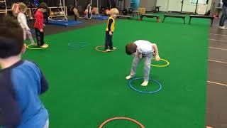 Training Room Ninja Kids! The 4-6 age group having a blast!