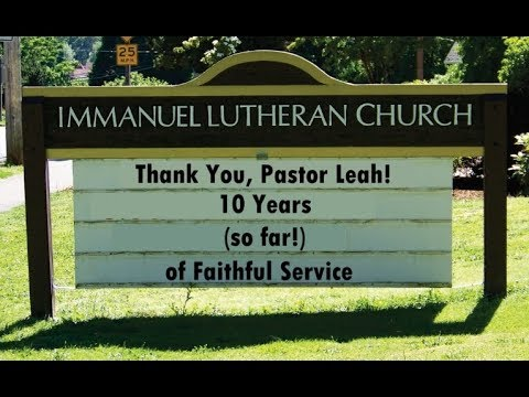 Pastor Leah Thank You